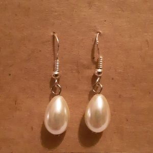 Freshwater Tear Drop Pearl Earrings